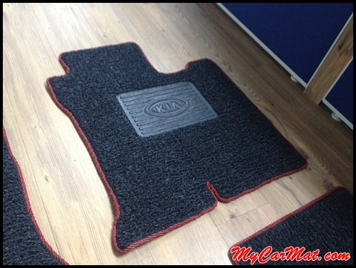 KIA Optima K5 Custom Car Mat With Side Sewing + Heelpad